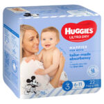 Huggies Ultra Dry Nappies for Boys Size 3 22-pack