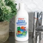 Pigeon Liquid Cleanser 450ml bottle in a kitchen sink
