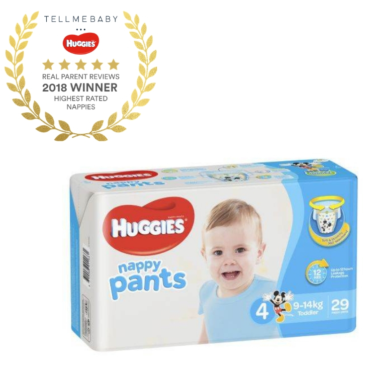 The top nappy 2018 is the Huggies Ultimate Nappy Pants in the Tell Me Baby 2018 Awards for best baby products